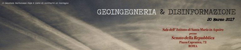 "Konferenz ""Geoengineering & Desinformation"" im Senat in Rom 20.03.2017"
